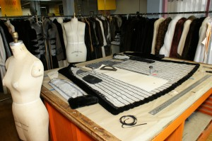 Fur restyling and repair service workroom.