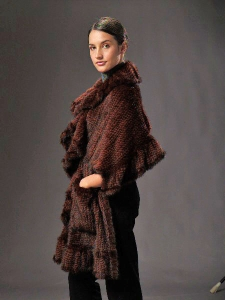 Sideview of the knitted mink shawl Janet Jackson wore in the movie.
